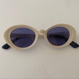 Toms white sunglasses